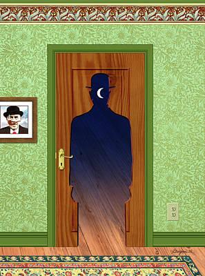 Digital Art - Magritte Door by Gary Grayson