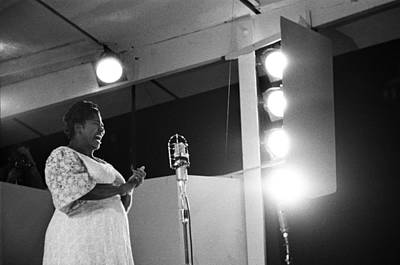 Photograph - Mahalia Jackson Performs At The Newport by Michael Ochs Archives