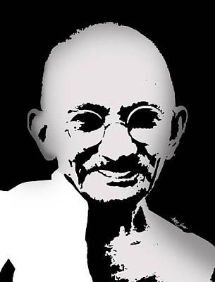 Mixed Media - Mahatma Gandhi Portrait, Artist Singh by World Of Quotes -Artist Singh