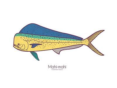 Digital Art - Mahi-mahi by Kevin Putman