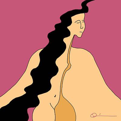 Digital Art - Maiden 3 by Jeff Quiros