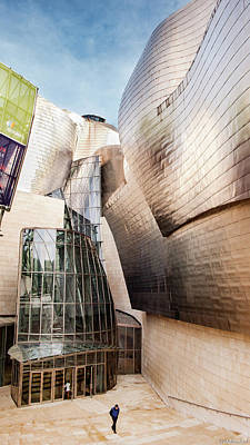Photograph - Main Entrance Of Guggenheim Bilbao Museum In The Basque Country Spain by Weston Westmoreland