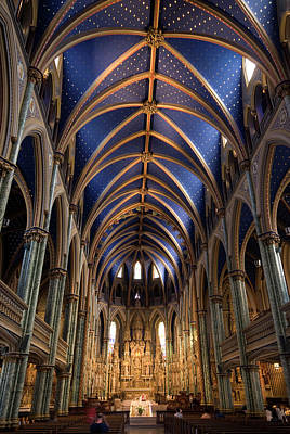 Ottawa Photograph - Main Nave Of The Notre Dame Cathedral by Krzysztof Dydynski