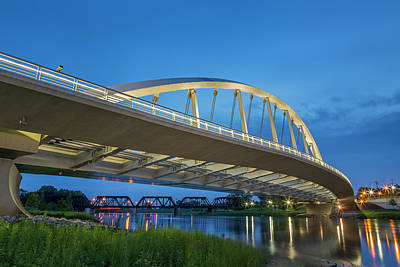 Royalty-Free and Rights-Managed Images - Main Street Bridge, Columbus, OH by Adam Romanowicz