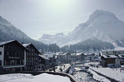 Ski Resort Photograph - Main Street In Lech by Slim Aarons