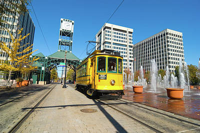 Photograph - Main Street Trolley In Memphis, Tn by Davel5957