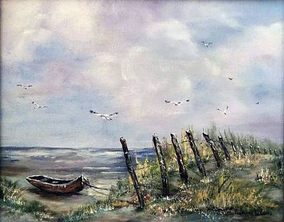 Painting - Maine Boat by James Lewis