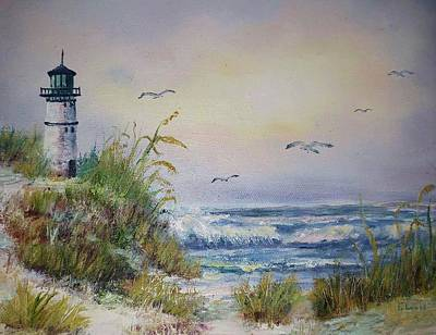 Painting - Maine Lighthouse Bar Harbor by James Lewis