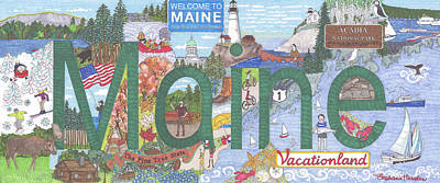 Mixed Media - Maine by Stephanie Hessler