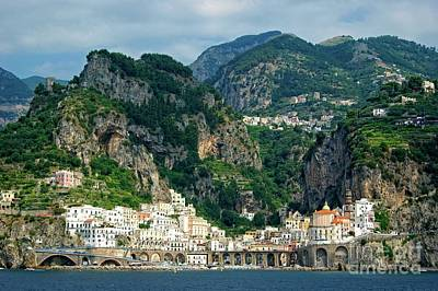 Photograph - Maiori On Italy's Amalfi Coast by David Birchall