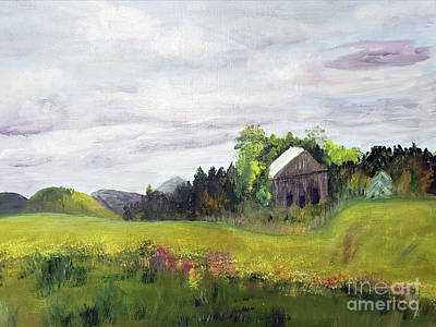 Painting - Majesteic Clouds Overlooking The Farm by Donna Walsh