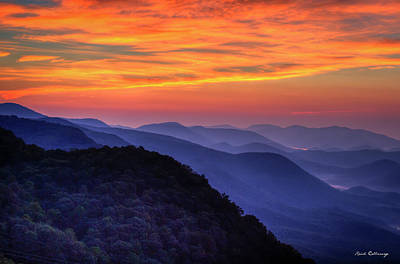 Photograph - Majestic Blue Ridges 2 Pretty A Place Chapel Sunrise Great Smoky Mountains Art by Reid Callaway