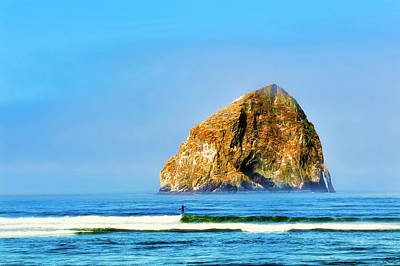 Photograph - Majestic Haystack Pacific City by Dee Browning