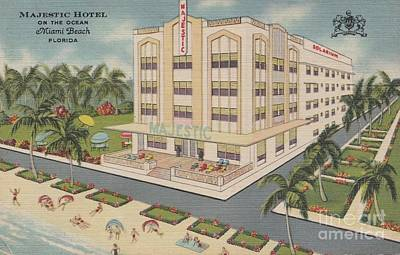Drawing - Majestic Hotel On The Ocean by Flavia Westerwelle