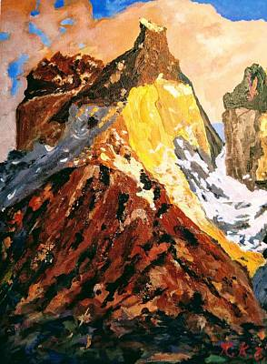 Painting - Majestic Mountain by Ray Khalife