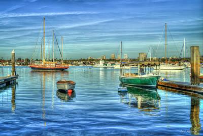 Photograph - Majestic Newport Harbor Newport Bay Harbor Southern California Art by Reid Callaway