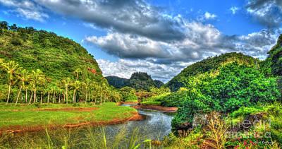 Photograph - Majestic Waimea River Valley Oahu Hawaii Art by Reid Callaway