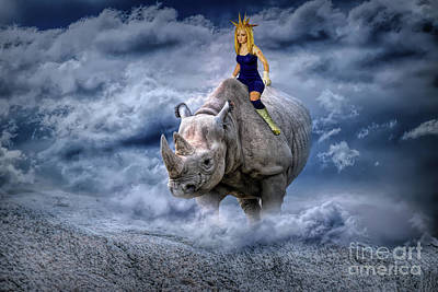 Photograph - Majin On A Rhino by Ed Taylor