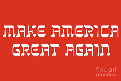 Photograph - Make America Great Again - In Hebrew by Doc Braham