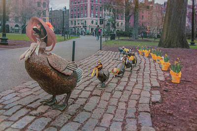 Photograph - Make Way For Ducklings - Boston Spring  by Joann Vitali