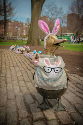 Photograph - Make Way For Ducklings - Easter Parade by Joann Vitali