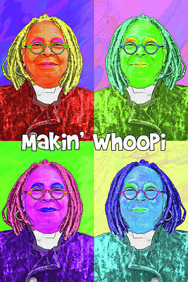 Digital Art - Makin Whoopi by John Haldane