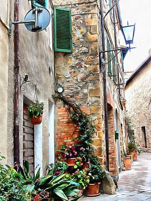 Photograph - Making Good Use Of Space Pienza by Dorothy Berry-Lound