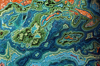 Photograph - Malachite And Azurite Mined From Bagdad by John Cancalosi