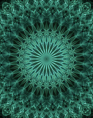 Digital Art - Malachite Green Mandala by Jaroslaw Blaminsky