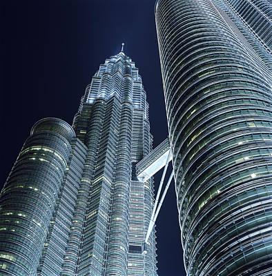 Photograph - Malaysia, Kuala Lumpur, Petronas Twin by Martin Puddy