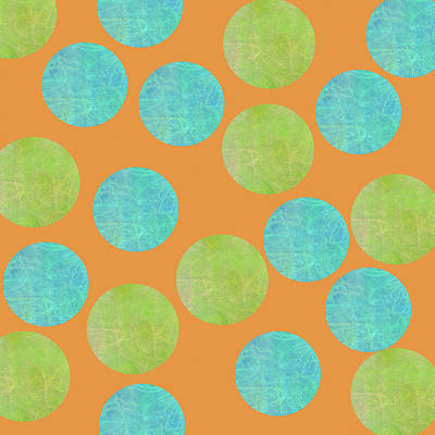 Digital Art - Malaysian Batik Polka Dot Print by Sand And Chi