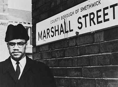 Photograph - Malcolm X In Smethwick by Express