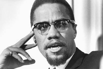 Music Photograph - Malcolm X Portrait by Michael Ochs Archives