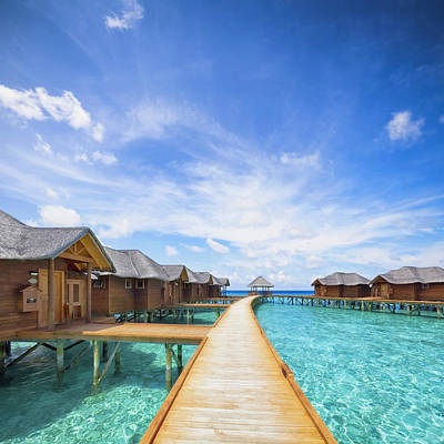 Photograph - Maldives Boardwalk by Cinoby