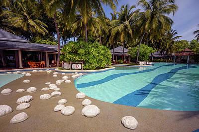 Photograph - Maldivian Resort Pool Side by Jenny Rainbow