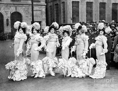 Photograph - Male Members Of Dumont Club Dressed As by New York Daily News Archive