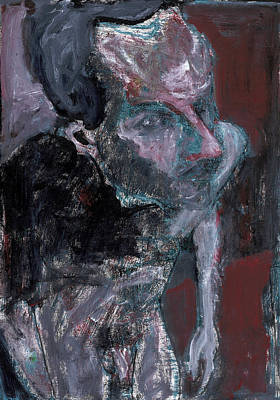 Painting - Male Nude Standing Crouched 5 by Artist Dot