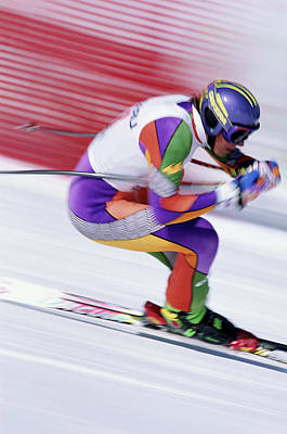 Photograph - Male Ski Racer by John P Kelly