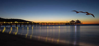 Photograph - Malibu Pier At Sunrise by John Rodrigues