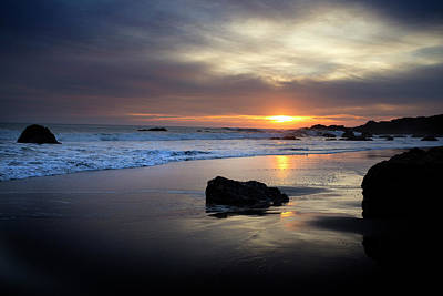 Photograph - Malibu Sunset by John Rodrigues