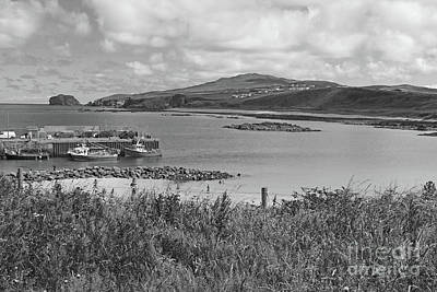Sara Habecker Folk Print - Malin Pier Donegal Ireland 2 bw by Eddie Barron