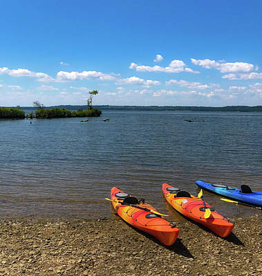 Photograph - Mallows Bay And Kayaks by Lora J Wilson