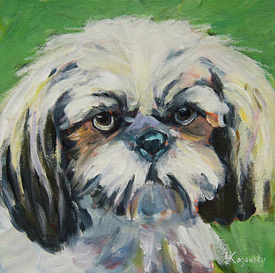 Painting - Maltese Puppy by Yulia Kazansky
