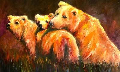Painting - Mama Bear Colorful Bear Painting by Jennifer Morrison Godshalk