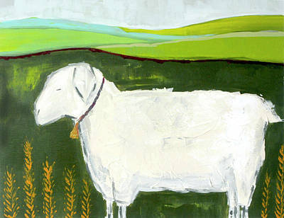 Wall Art - Painting - Mama Sheep  by Kaley Alie