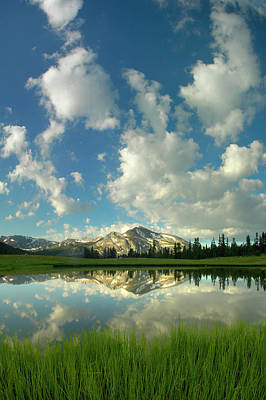 Photograph - Mammoth Peak And Scattered Clouds by Tim Fitzharris/ Minden Pictures