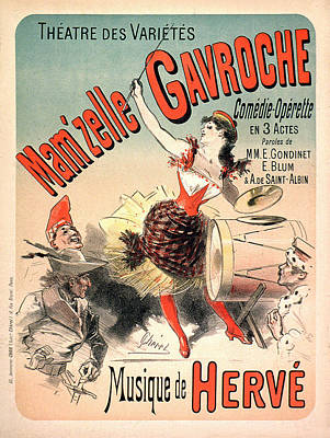 Painting - Mamzelle Gavroche Vintage French Advertising by Vintage French Advertising