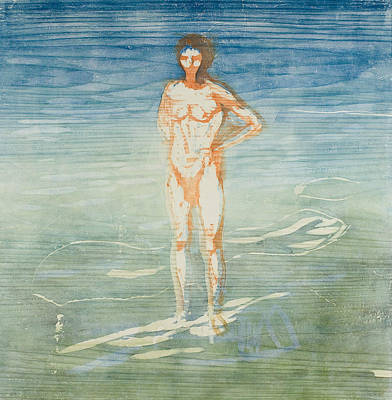 Relief - Man Bathing by Edvard Munch