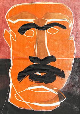Relief - Man Face Original 11 by Artist Dot