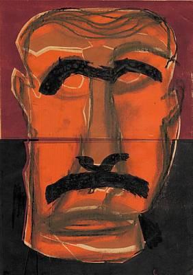 Relief - Man Face Original 13 by Artist Dot